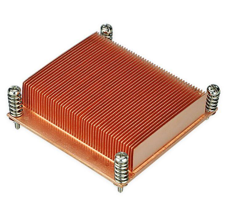 LGA1366&1356 square CPU Copper T3-T8 Temper skiving heat sinks heatsink