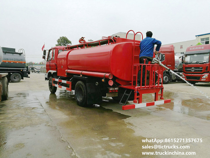 Cheaper water tank lorry Fire fighting truck 1600Gallon export to YANGON,MYANMAR