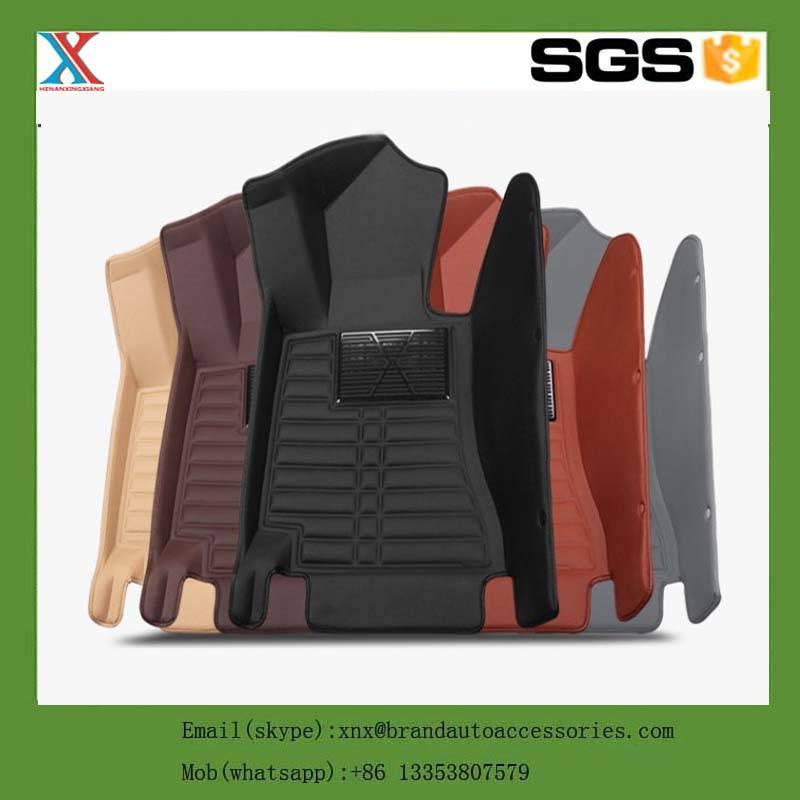 3d 5d Non Skid Car Floor Mat High Edge Car Mats XPE leather car floor mats