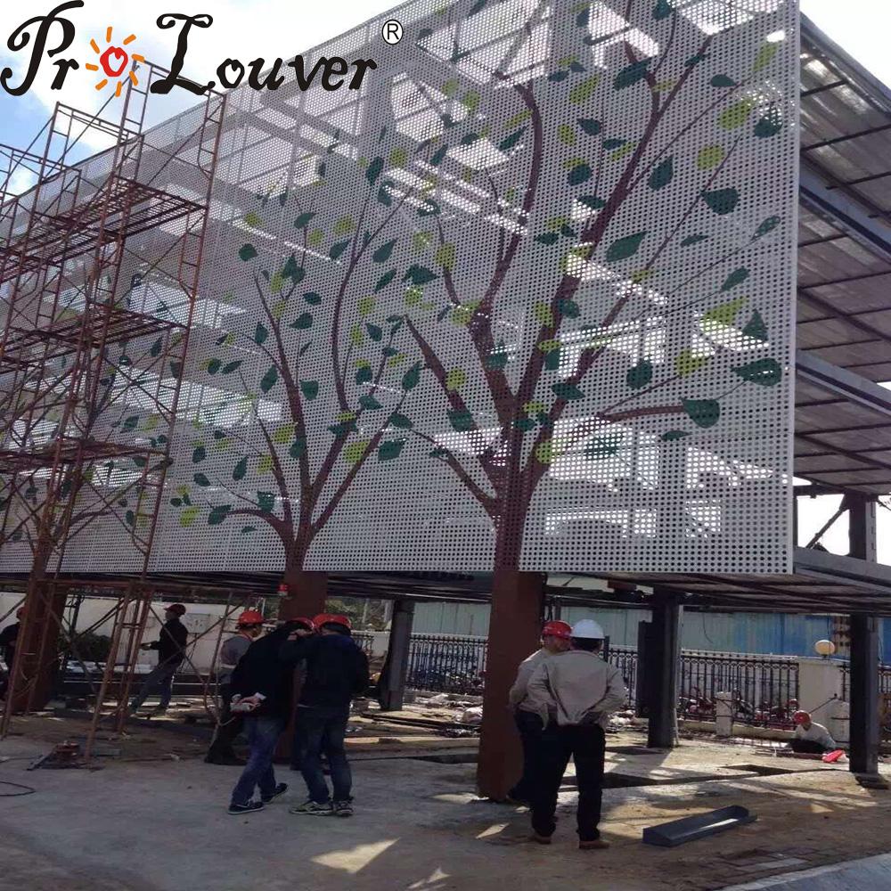 Sun shading external wall,perforated aluminum sheet/panel