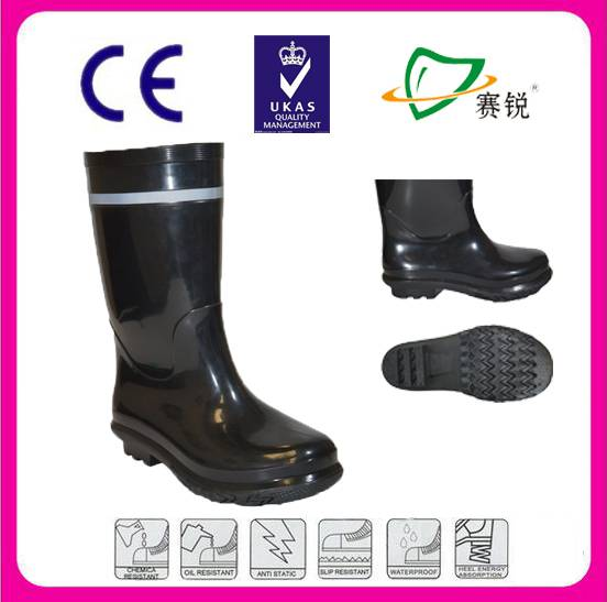 Top quality reflective pvc boots from safety boots factory