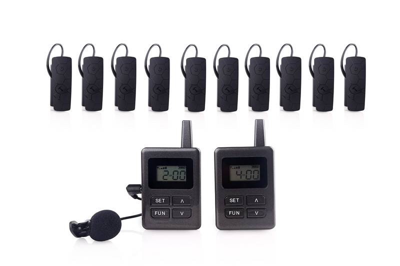 Wireless audio tour guide system package