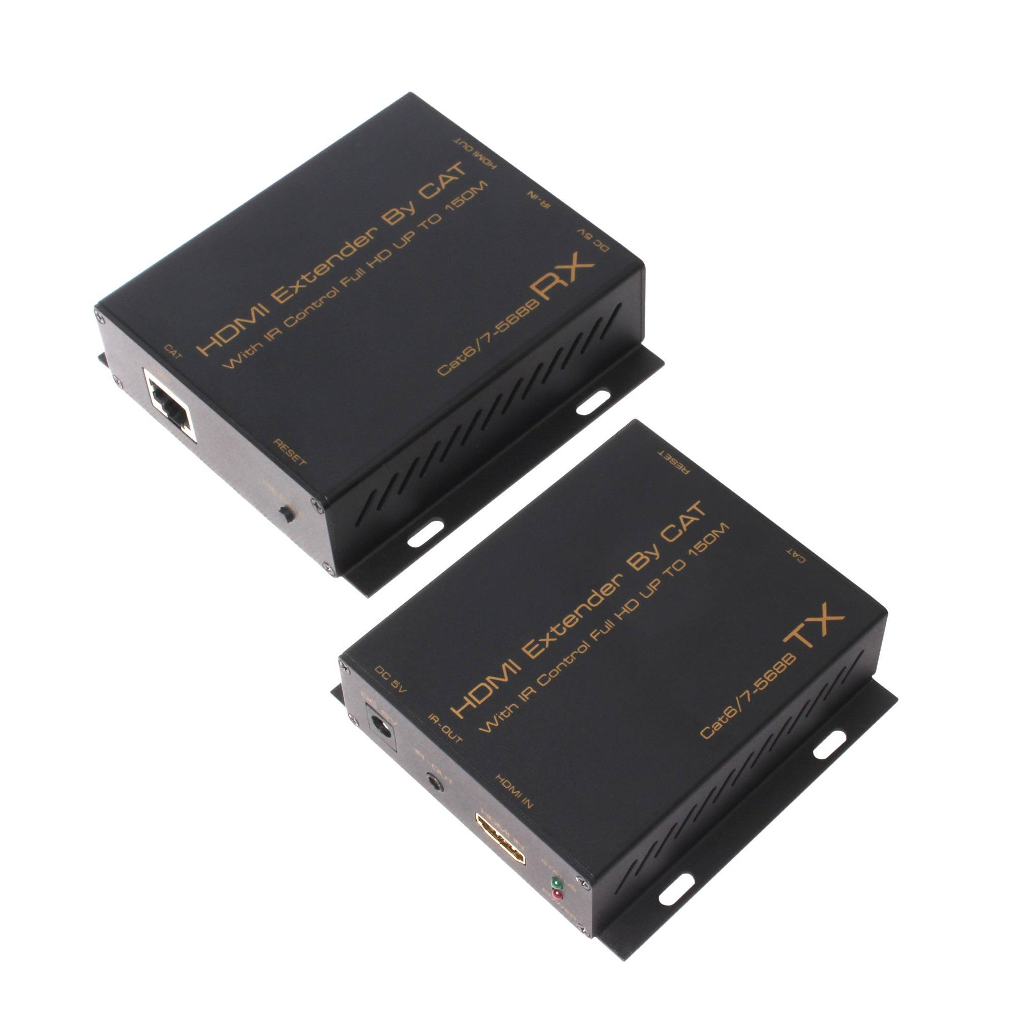 HDMI-CAT-HDMI Extender 150m by singal over cat6/7