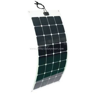 High Efficiency Sunpower Cell Semi Flexible Solar Panel 100W