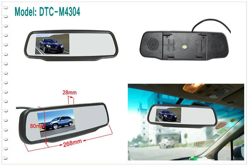 4.3 inch LCD mirror Monitor