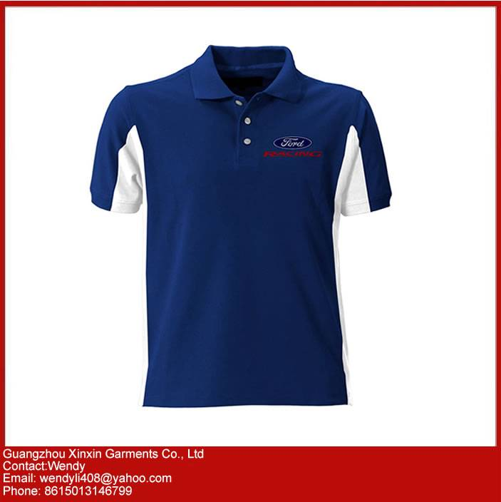 Custom Mens Cotton Golf Polo Shirt with Own Embroidery Logo