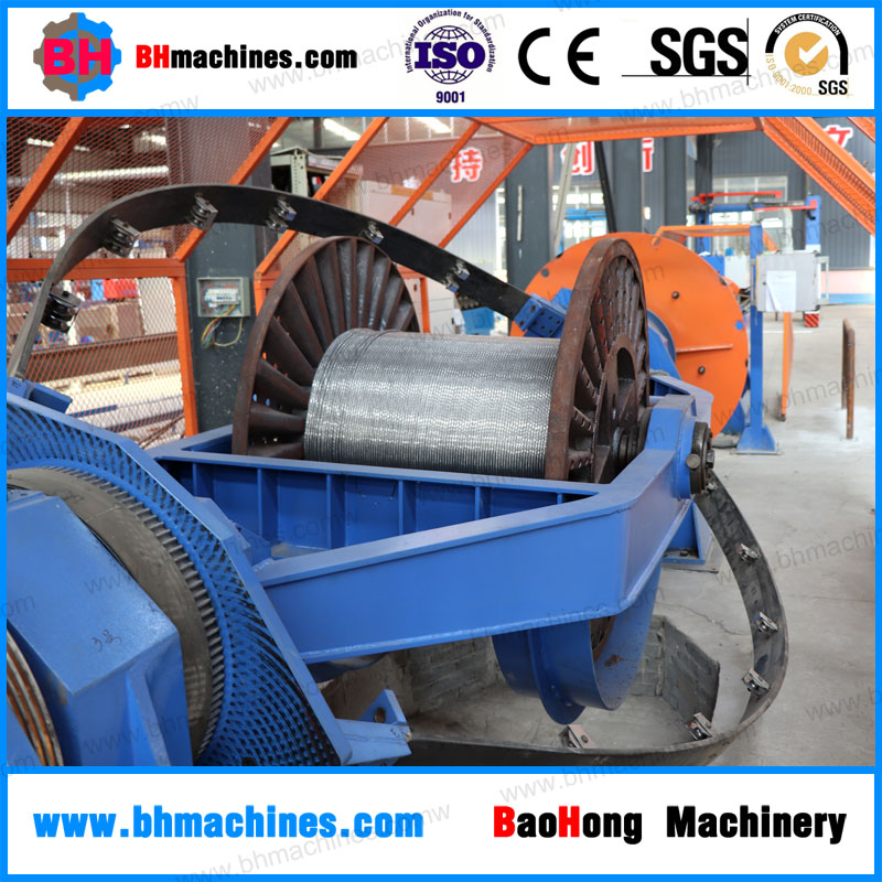 Skip / bow type cable wire making machine for stranding cable cores process