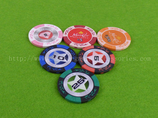 Professional 14g Clay Composite Casino Poker Chips , Small Values Game Chips For Promotion