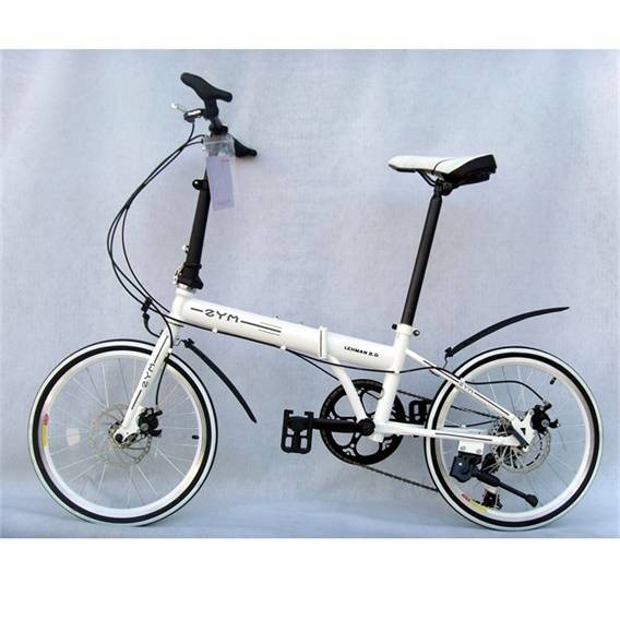7speeds alu 20inch Folding Bike with pure white color