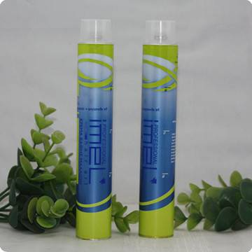 Collapsible aluminum Hair Dye Color Tube Packaging
