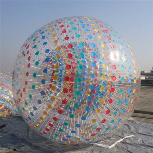 Outdoor Water Fun PVC Inflatable Zorb Ball / Human Rolling Ball For Grass or Beach