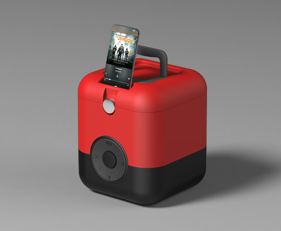 Camping cooler box with bluetooth speaker