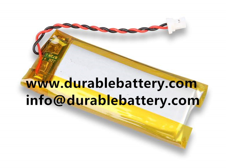 3.7V lithium battery 502030 250mAh, rechargeable Li-polymer battery with PCB