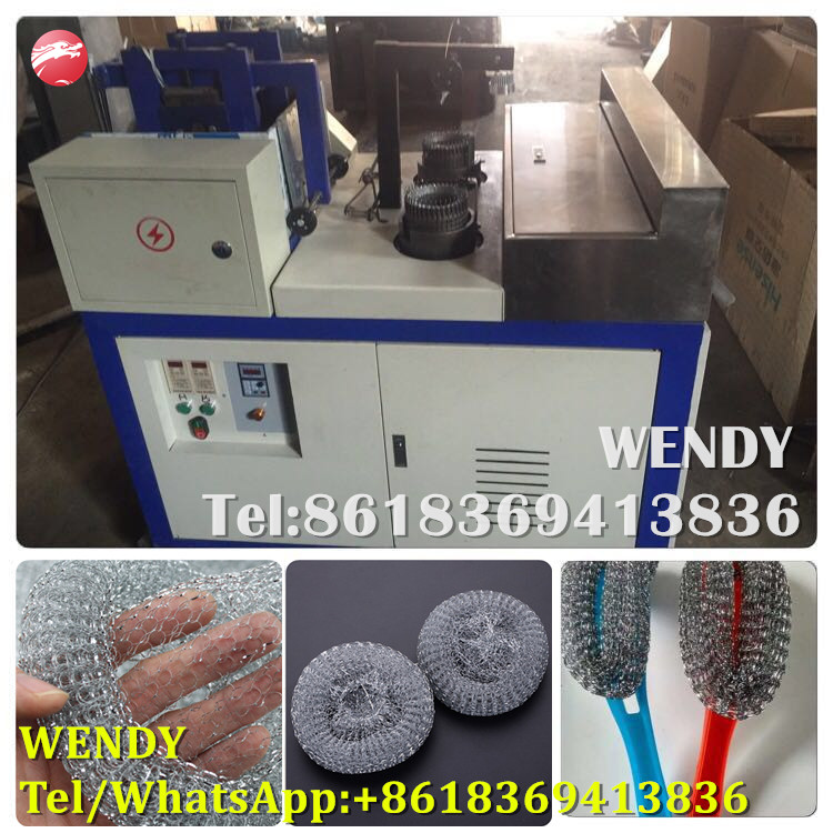 Automatic mesh scourer making machine,mesh knitting machine(Double needles)