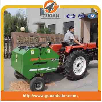 Tractor mounted baling press baler machine