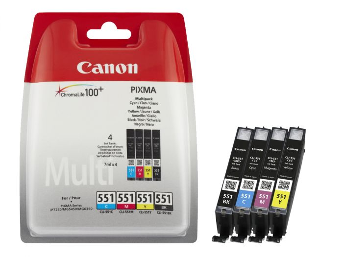Best price Canon CLI-551 Multipack Colour Ink Cartridge