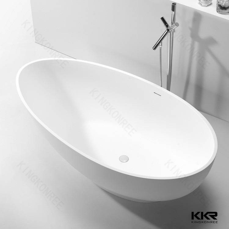 Kingkonree cheap solid surface freestanding bathtub