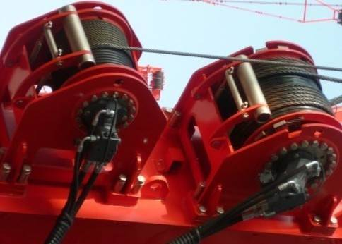 hydraulic winch for crane