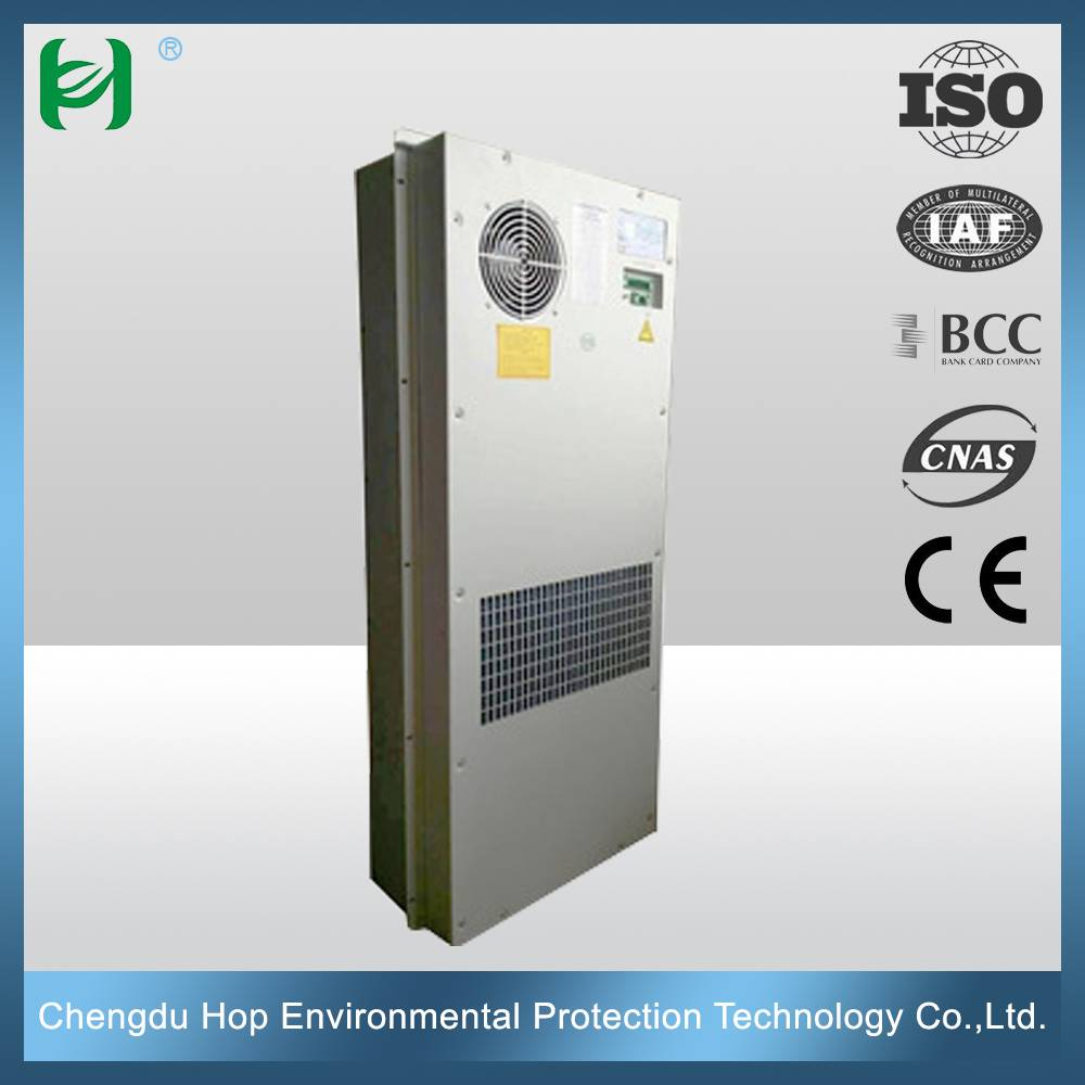 CE Industrial semi-enbedded mounted battery/telecom cabinet air conditioning