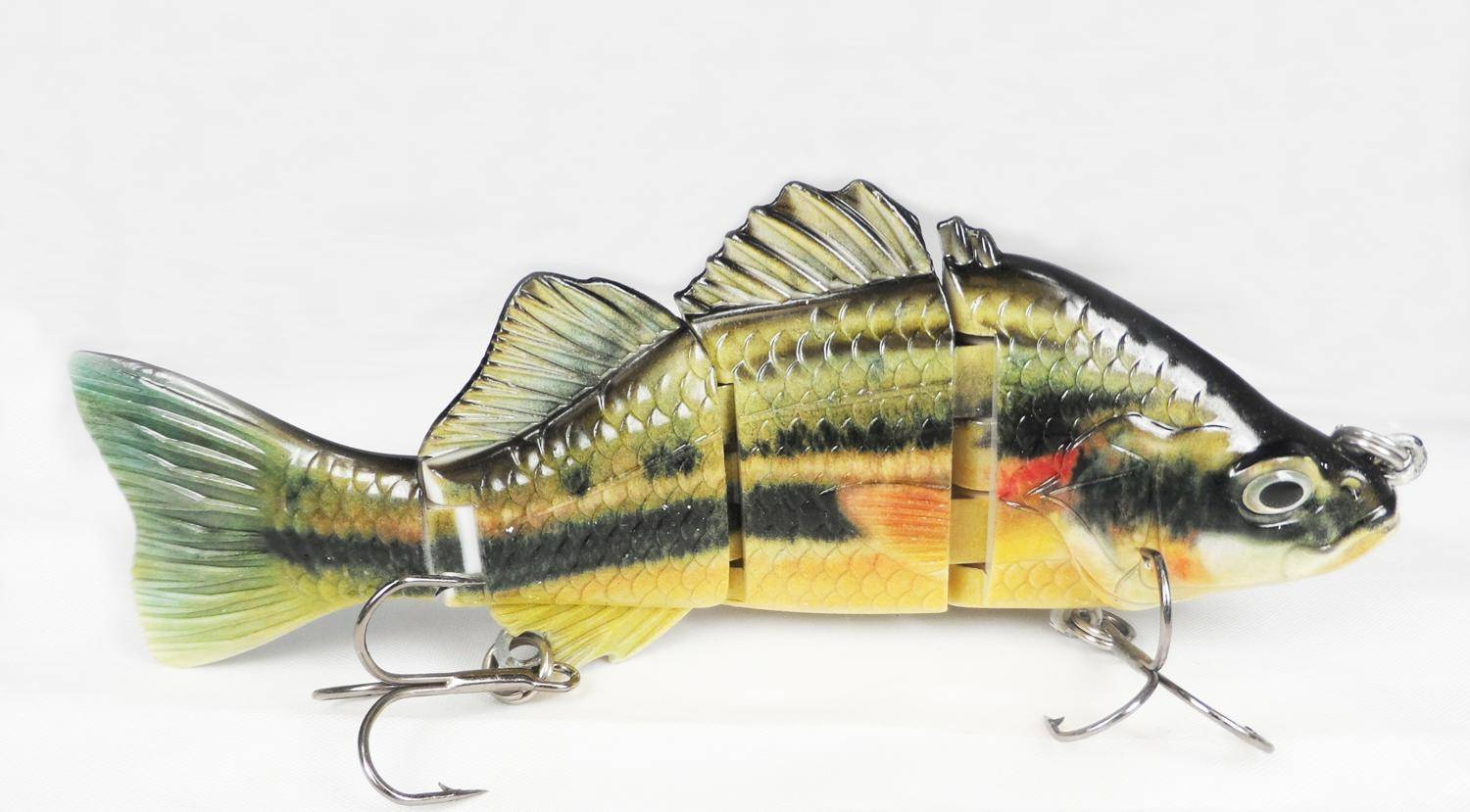 Bass  4 section Artificial bait for fishing 2015