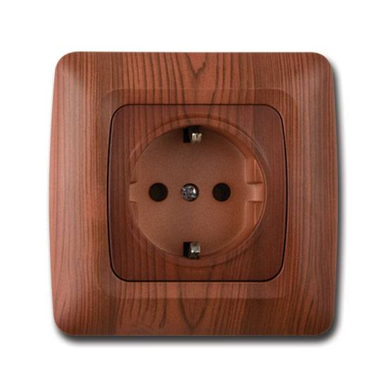 Elite Wooden Serie Earthed Socket