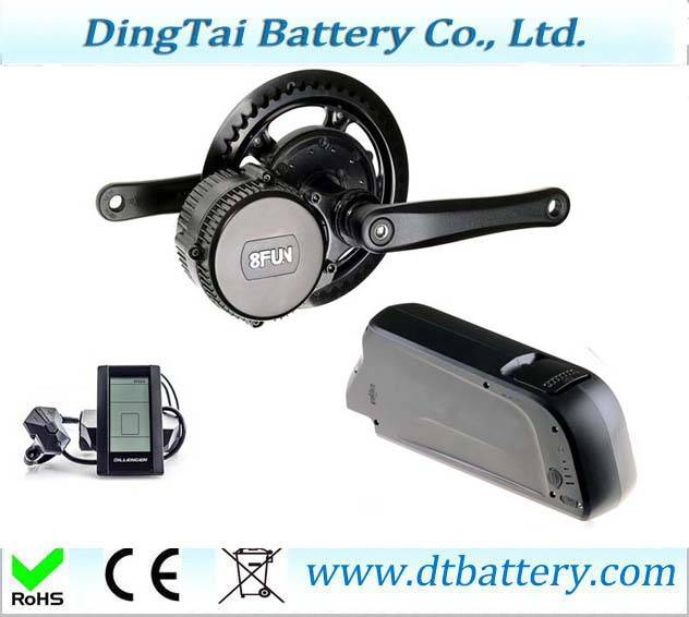 Down tube 36V 14.5Ah Lithium ion Samsung INR1865029E e-bike battery pack with BMS, with USB 5V outpu