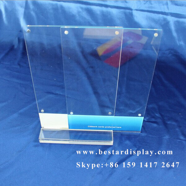 OEM ODM custom acrylic sign holders 8.5 x 11