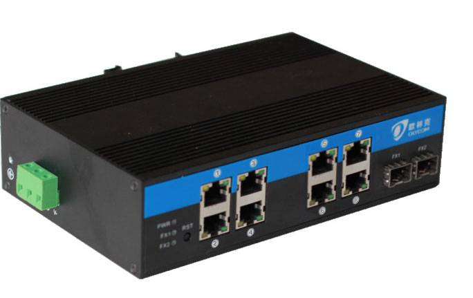 10/100/1000 Mbps  Industrial POE Fiber Switch