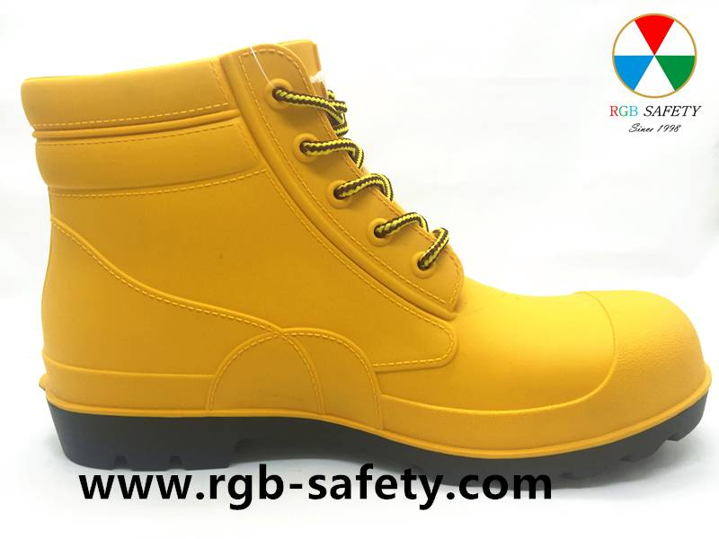 New Lace Up Steel Toe PVC Safety Shoes