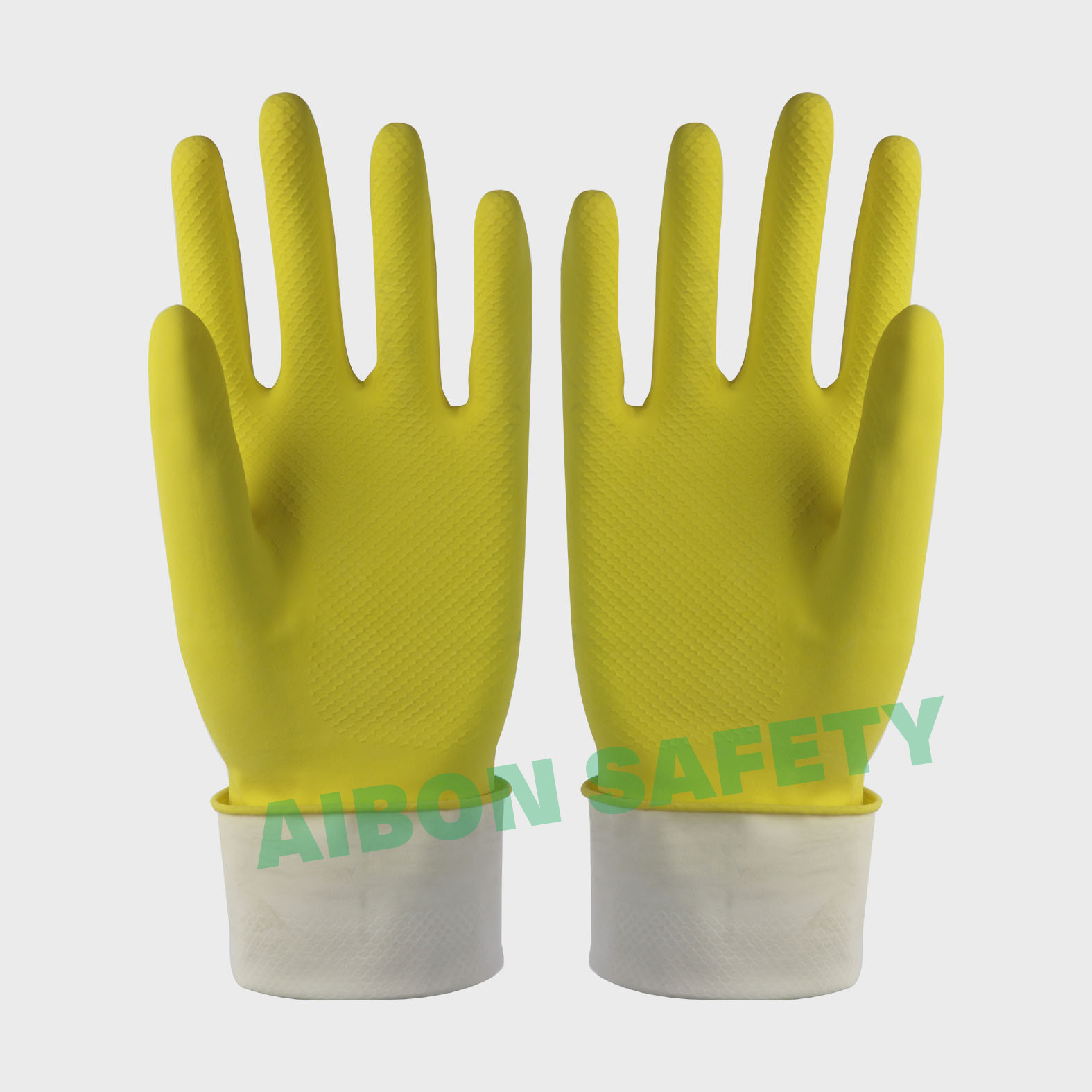 cotton flocklined rubber household glove