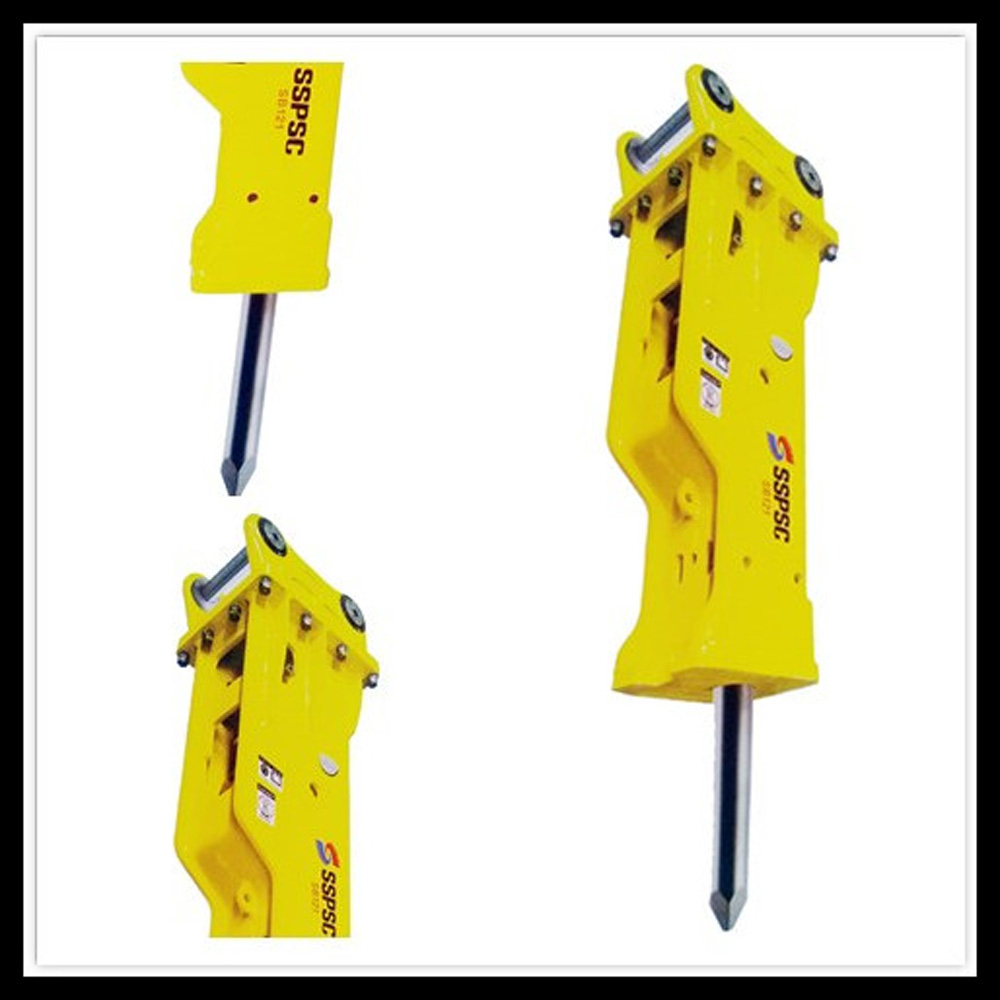 SB121 155MM chisel hydraulic breaker hammer for building demolition