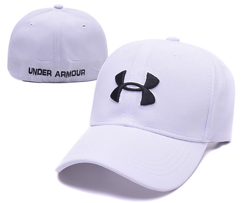 Under Armour Stretch Fitted Hat White
