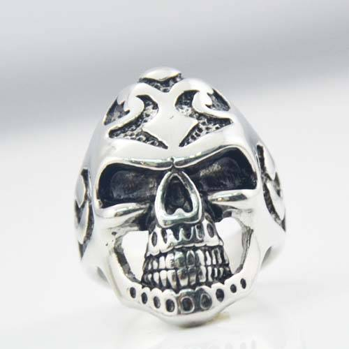2015 Fashion jewelry stainless steel skull biker ring for weholesale