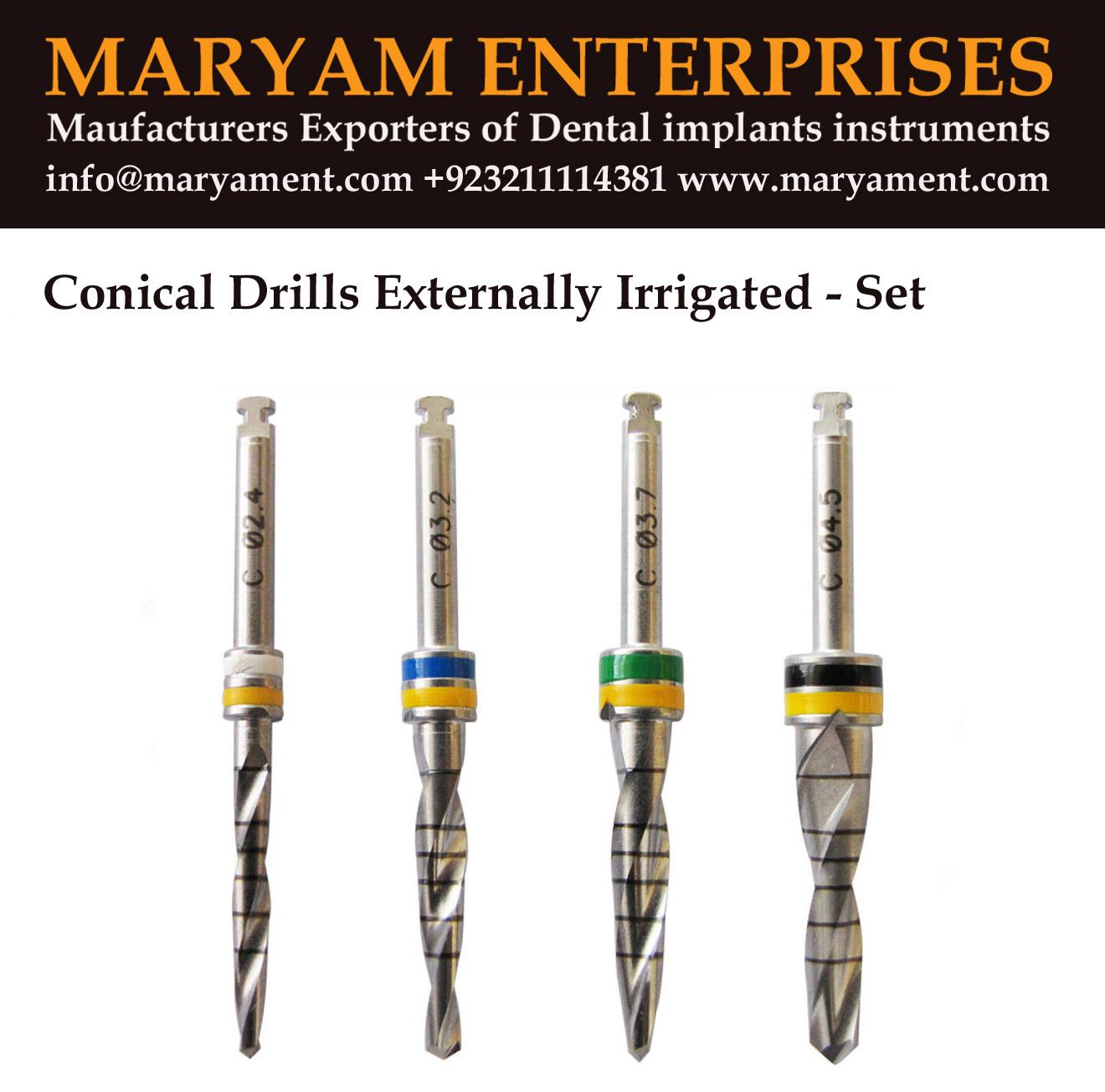 Dental implant drills Externally irrigated Maryam enterprises