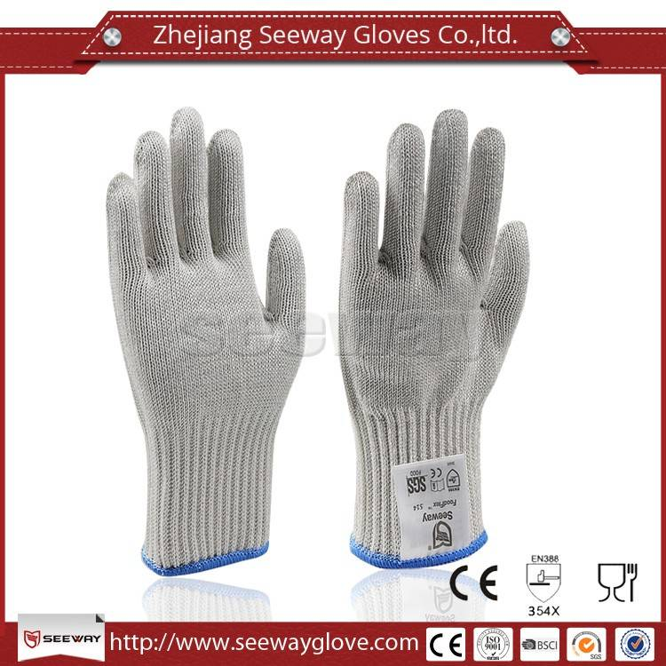 SeeWay F514 Stainless Steel Cut Resistant Hhpe Food Grade Gloves Kitchen Mesh Gloves