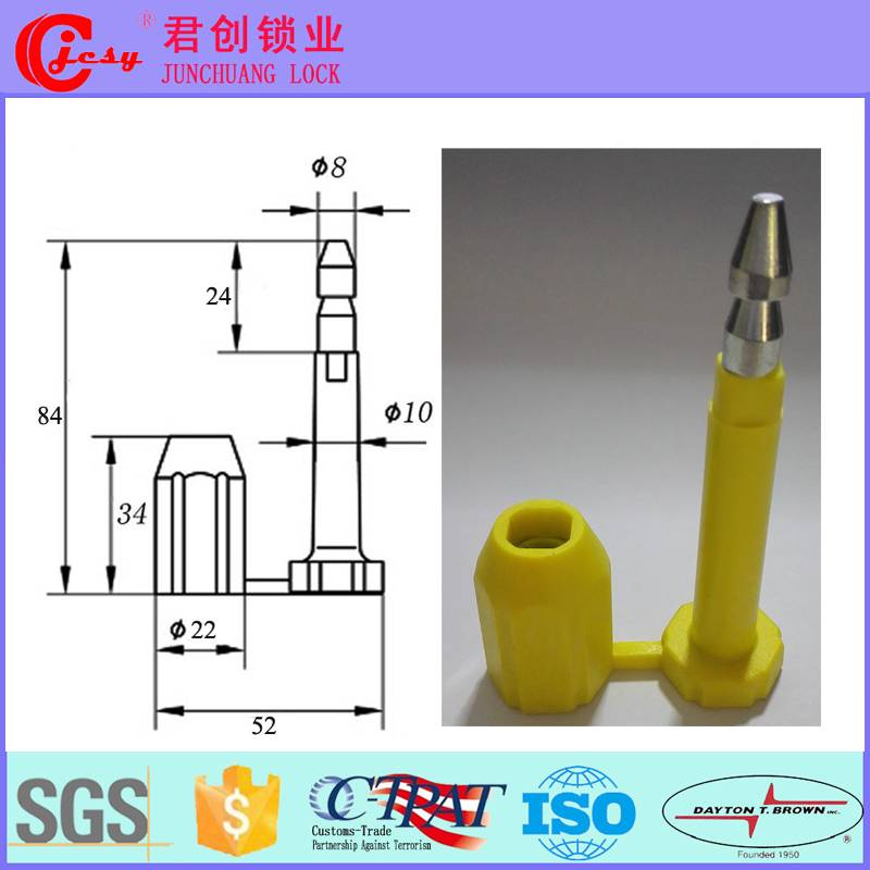 ISO 17712 high security bolt seal