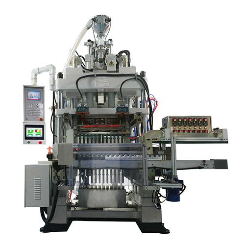 Plastic tube shoulder injection machine automated heading machine