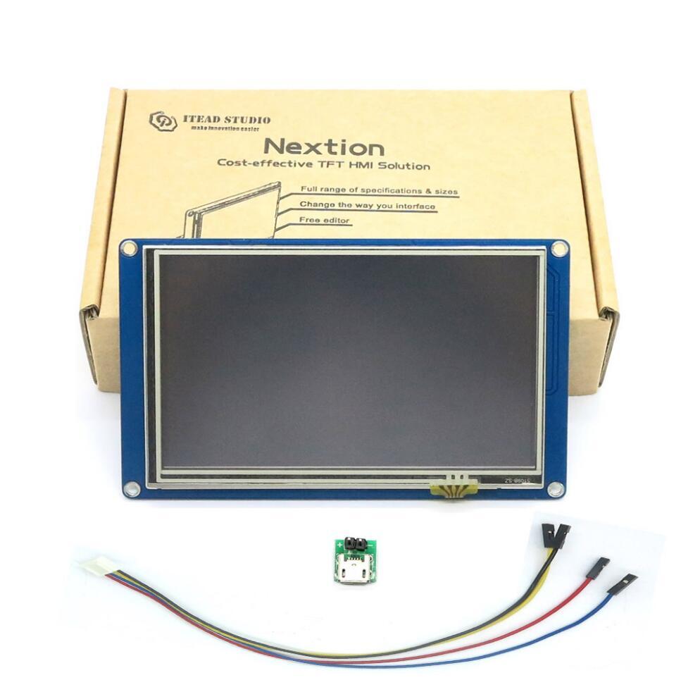 """Nextion NX8048T050 - 5.0"""" LCD TFT HMI Intelligent Touch Display"""