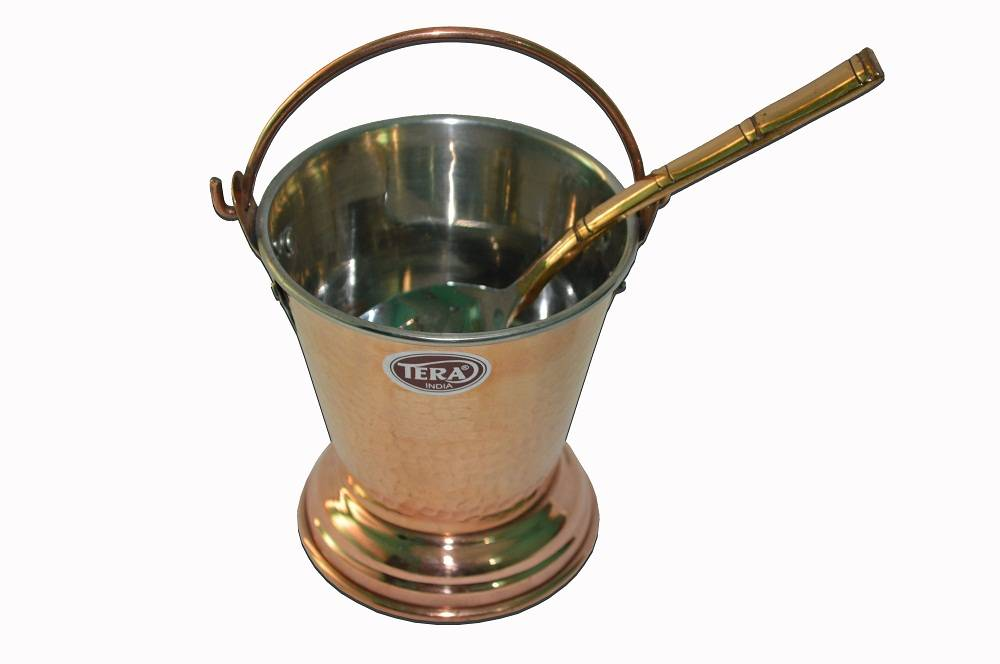 Raghav India 100% Genuine Copper Bucket+Copper Spoon