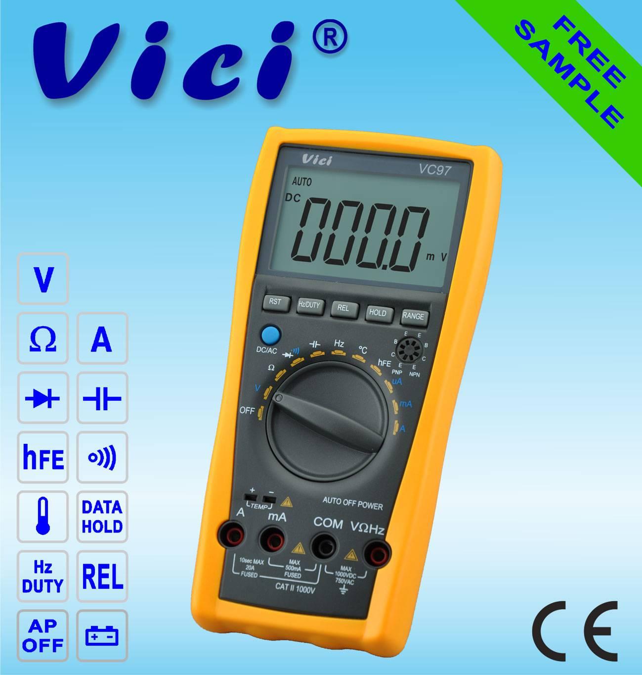 VC97  3 3/4  Portable auto range digital multimeter