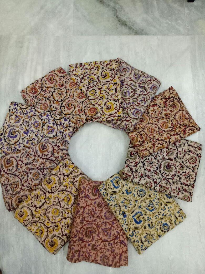Kalamkari hand block cotton fabric