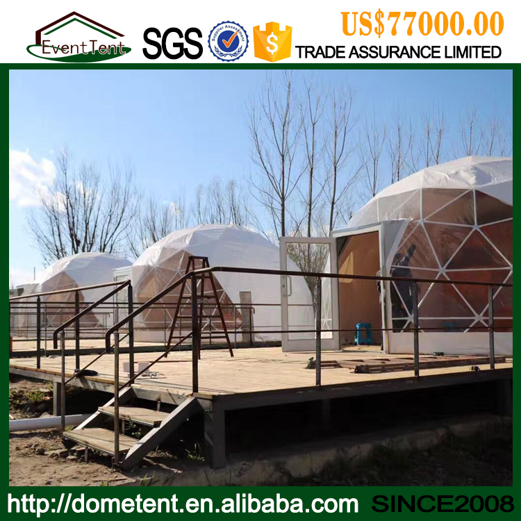 Dia 5-30m Hemisphere Geodesic Dome Tent With Steel Structure