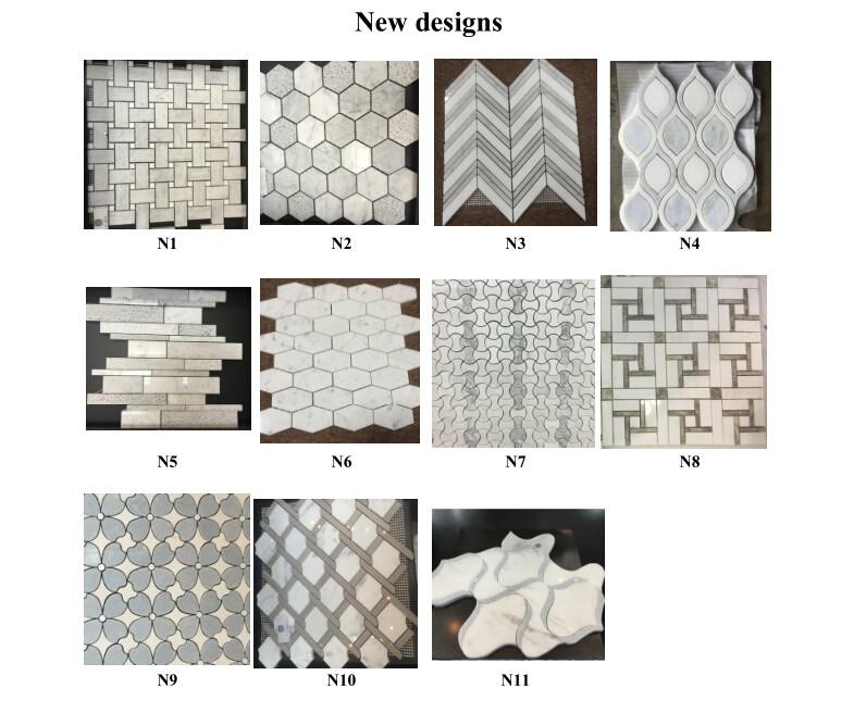 New design WHITE MARBLE MOSAIC
