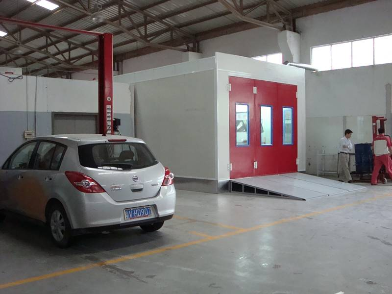 Water-Based Paint Spray Booth for Car with PLC Control Syetem