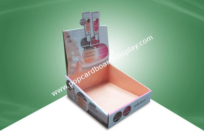 skin care products PDQ cardboard display