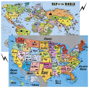Magnetic Map Puzzles