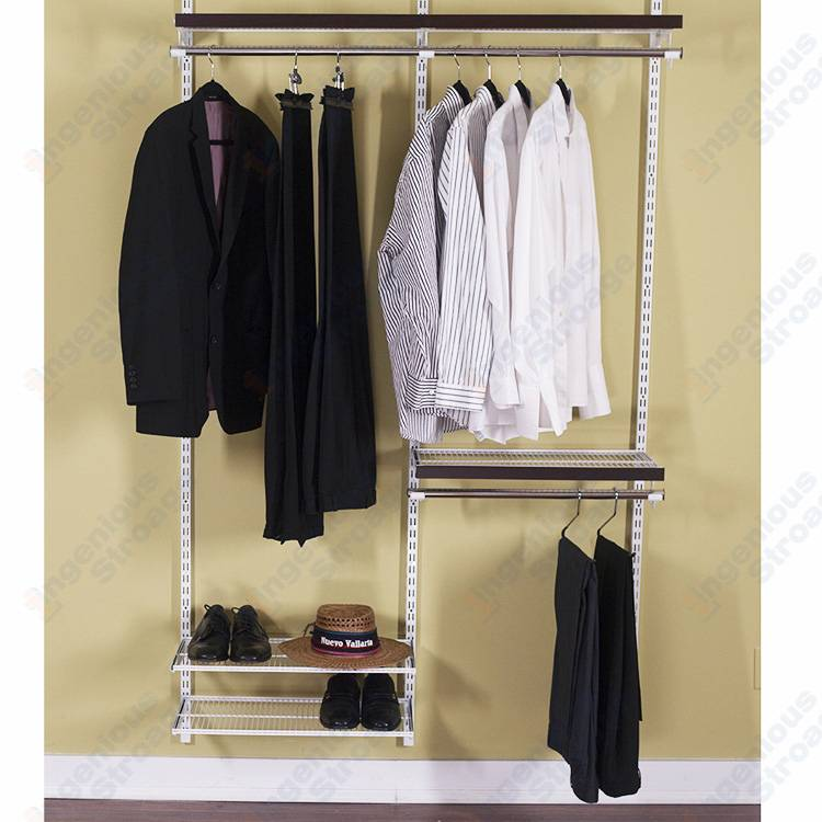 Classic wire closet shelves system for bedroom wardrobes