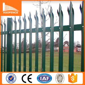 2015 hot sale high quality palisade fence