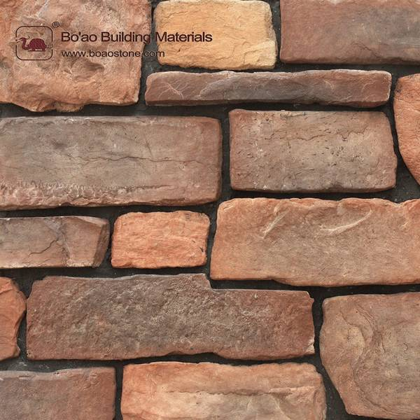 Artificial culture stone for wall cladding