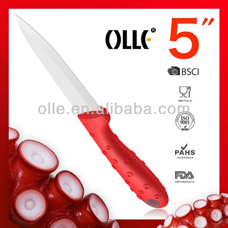 Brand New Design 5 Inch Octopus Handle Utility Ceramic Knives